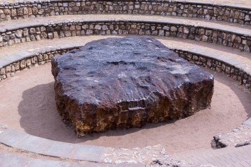 The Hoba meteorite in Namibia.