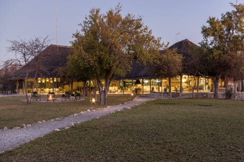 The main building of Mushara Bush Camp near Etosha National Park, Namibia.