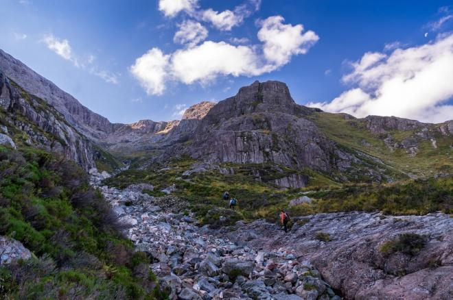 Mountaineering in Glencoe, Scotland.