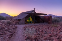 Our tent in Etendeka Mountain Camp, Namibia.