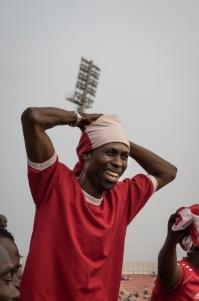 An Asante Kotoko supporter saddened over the opposite team scoring.