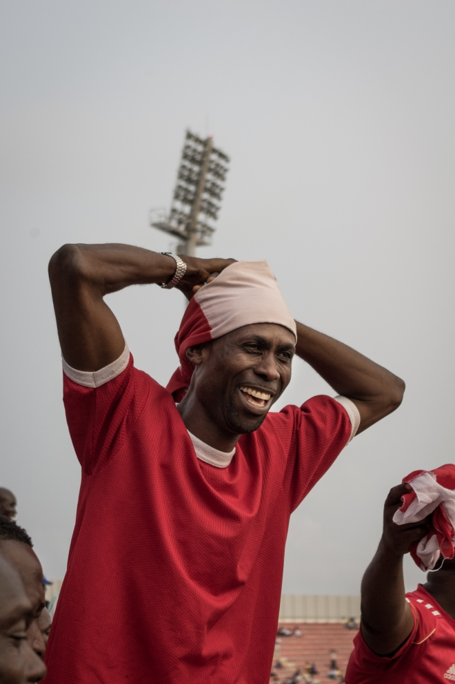 An Asante Kotoko supporter saddened over the opposite team scoring.
