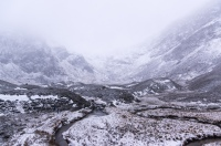 Horrible weather in Corrie Fee, Scotland.