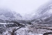 Horrible weather in Corrie Fee, Scotland.